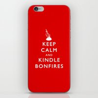kindle iPhone & iPod Skins featuring Keep Calm & Kindle Bonfires by Zach Shonkwiler