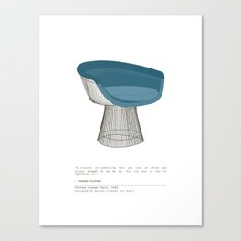 Platner Lounge Chair Canvas Print