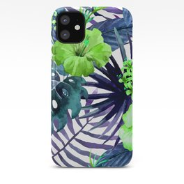 Tropical Floral Watercolor Var. 8  iPhone Case