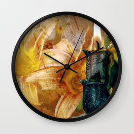 Candle Lit Wall Clock