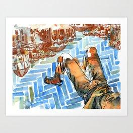 Asleep in Foreign Cities Art Print