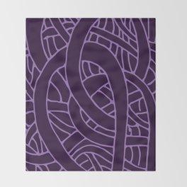Microcosm in Purple Throw Blanket