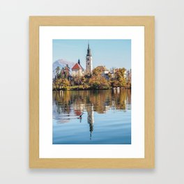 Lake Bled Reflections Framed Art Print
