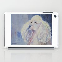 poodle iPad Cases featuring White poodle by Doggyshop