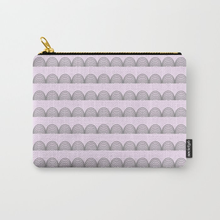 Pastel Scallops - For a Minute There I Lost Myself Carry-All Pouch