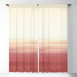 Calming Dual Tone Abstract Horizon Scene Blackout Curtain