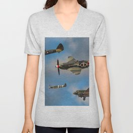 Vintage Aircraft Unisex V-Neck