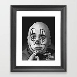 "Art Design ""Chicano clown"" Framed Art Print"
