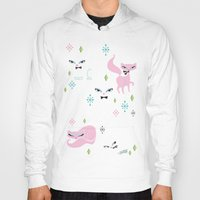 kittens Hoodies featuring Swanky Kittens by Miss Fluff