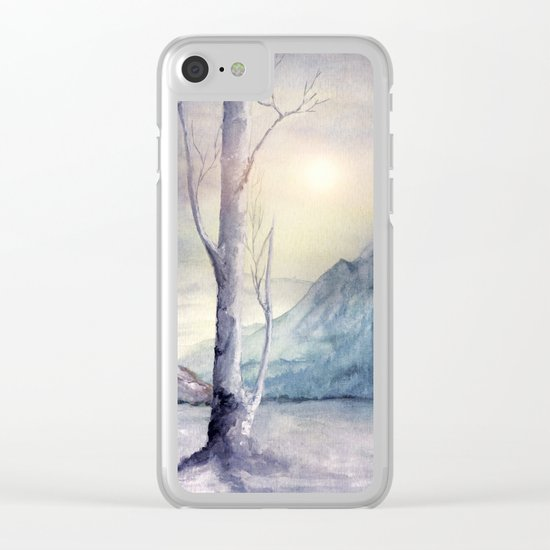 Winter Melody Clear iPhone Case