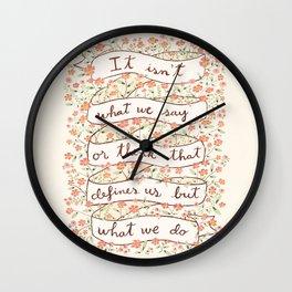 Sense and Sensibility quote Wall Clock