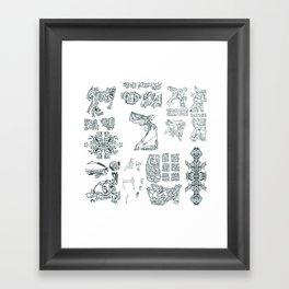 WATERHUMMINGBIRDHOUSE CODEX Framed Art Print