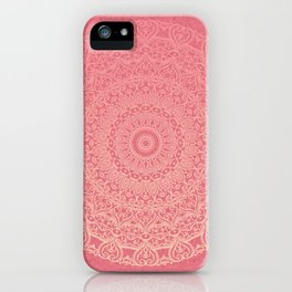 Pink Boho Mandal iPhone Case