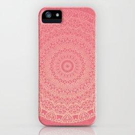 Pink Boho Mandal iPhone Case