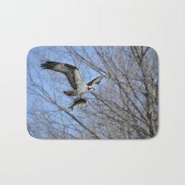 Osprey and Prey - Wildlife Photography Bath Mat