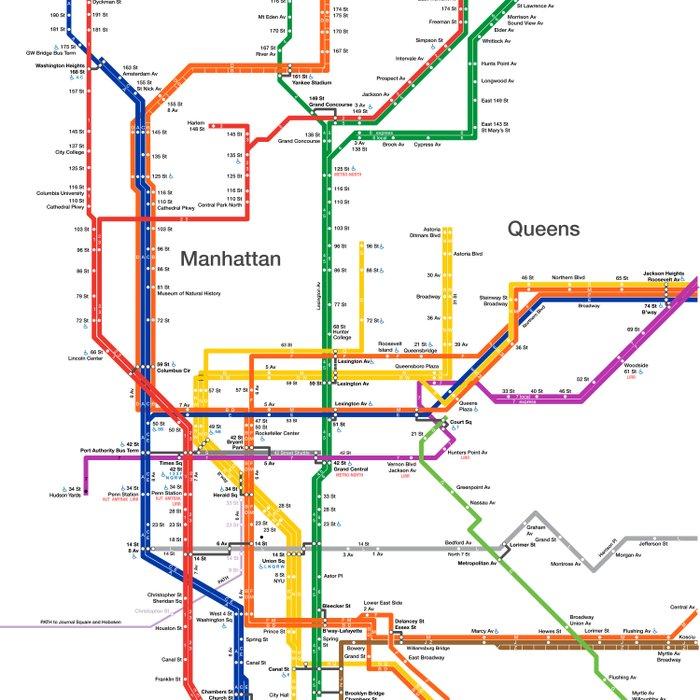 Washington Heights Subway Map.New York City Subway Map Duvet Cover
