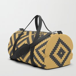Traditional geometric pattern in modern colors, yellow Duffle Bag
