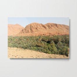 Oisis in Tinghir south of the High Atlas in Morocco Metal Print