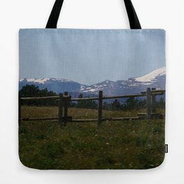 Snowy Tops Tote Bag