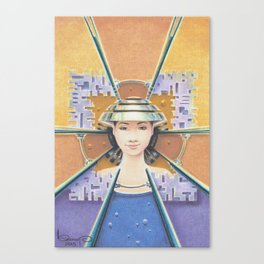 """""""Portrait with chromed Nón Lá"""" Canvas Print"""