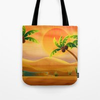 oasis Tote Bags featuring Oasis by Tatyana Adzhaliyska