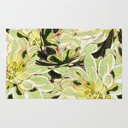 Yellow Desert Echeveria Pattern Rug
