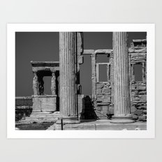 The Caryatids at The Parthenon Art Print