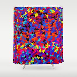 puzzle in colors and black Shower Curtain