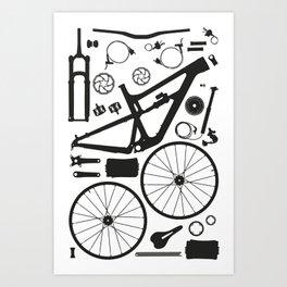 Bike Parts - Hightower Art Print
