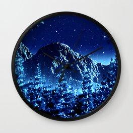 moonlight winter landscape Wall Clock