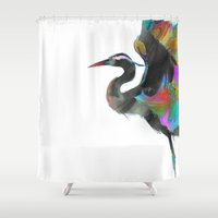 archan nair Shower Curtains featuring Vyakta by Archan Nair