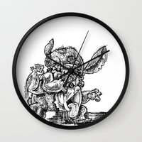 lilo and stitch Wall Clocks featuring Zombie Stitch | Disney's Lilo and Stitch by Aaron Bowersock
