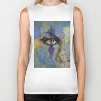 gothic Biker Tanks featuring Gothic Art by Michael Creese