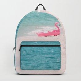 Pink Flamingo Beach Backpack