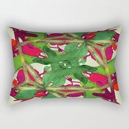 Floral Print Colorful Pattern Rectangular Pillow