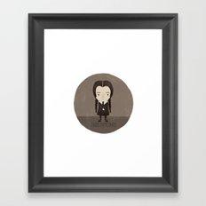 Wednesday Addams Framed Art Print