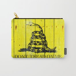 Gadsden Flag On Old Wood Planks - Don't Tread on Me Carry-All Pouch