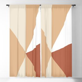 Tetrachromatic geometry sand and rust Blackout Curtain