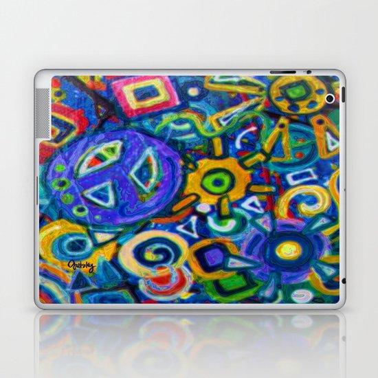 Peace and Purple Laptop & iPad Skin