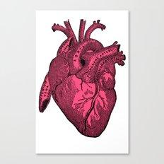 hot pink heart Canvas Print