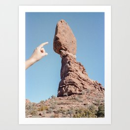 Balancing Rock. Arches National Park, Utah. Art Print