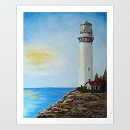 Sunny Lighthouse Art Print