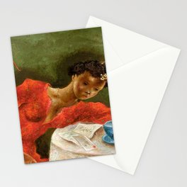African American Masterpiece 'The Night Letter' by Eldzier Cortor Stationery Cards