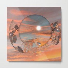Lunar Sunset Metal Print