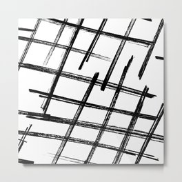 Criss Cross B+W Print Metal Print
