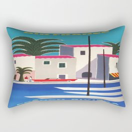 Vintage poster - French Riviera Rectangular Pillow
