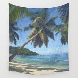 Takamaka palms, Seychelles Wall Tapestry