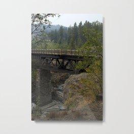 trans canada trail trestle bridge Metal Print