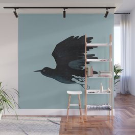 Flying Crow Wall Mural