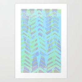 Seaside Chevron Art Print